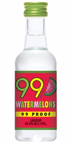 99 Brand Watermelons Liqueur Perspective: front