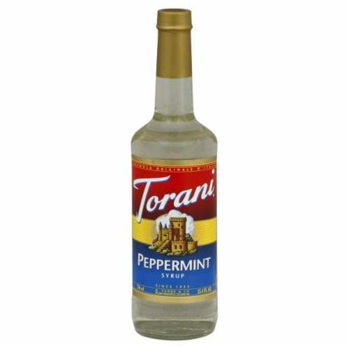 Torani Peppermint Syrup Perspective: front