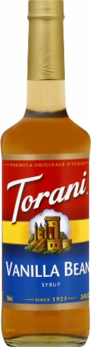 Torani Vanilla Bean Syrup Perspective: front