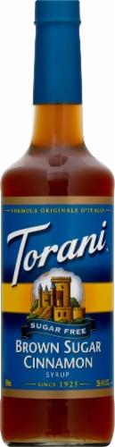 Torani Brown Sugar Free Sugar Cinnamon Syrup Perspective: front