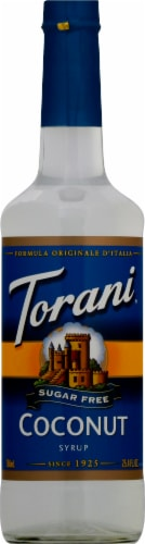 Torani Sugar Free Coconut Syrup Perspective: front