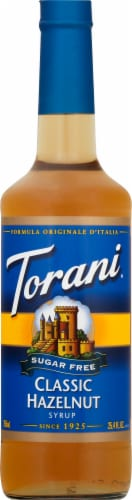 Torani Sugar Free Hazelnut Syrup Perspective: front