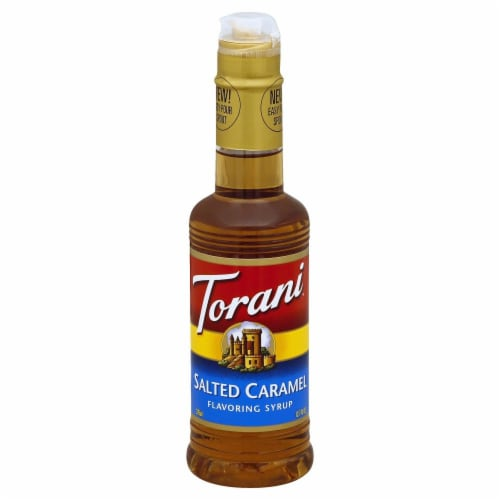 Torani Salted Caramel Flavoring Syrup Perspective: front
