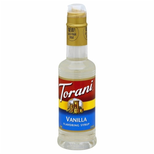 Torani Vanilla Flavoring Syrup Perspective: front