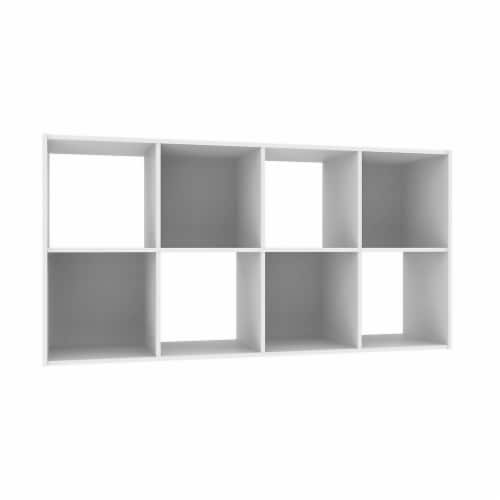 ClosetMaid® Cubeicals® Stackable 8-Cube Organizer - White Perspective: front