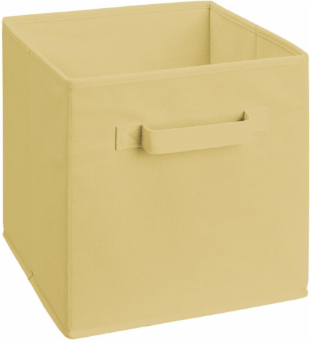 ClosetMaid Cubeicals Fabric Storage Bin - Natural Perspective: front