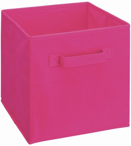 ClosetMaid Cubeicals Fabric Storage Bin - Fuchsia Perspective: front