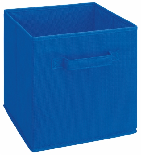 ClosetMaid Cubeicals Multi-Purpose Fabric Storage Bin - Royal Blue Perspective: front