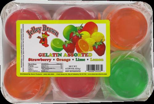 Jelley Brown Assorted Flavors Gelatin Perspective: front