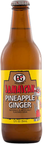 D & G Pineapple Ginger Soda Perspective: front
