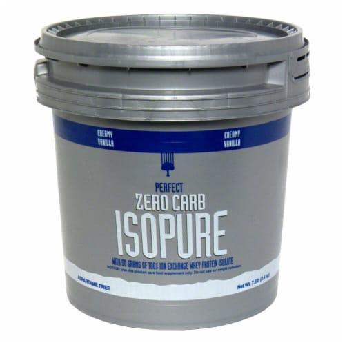 ISOPURE Perfect Zero Carb Creamy Vanilla Protein Powder Perspective: front