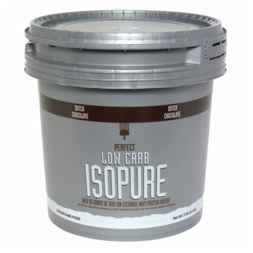 ISOPURE Perfect Low Carb Dutch Chocolate Protein Powder Perspective: front