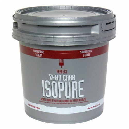ISOPURE Perfect Zero Carb Strawberries & Cream Protein Powder Perspective: front
