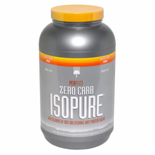 ISOPURE Perfect Zero Carb Pineapple Orange Banana Protein Powder Perspective: front