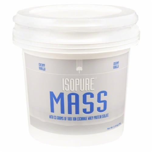 ISOPURE Mass Creamy Vanilla Protein Powder Perspective: front