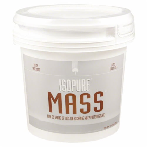 ISOPURE Mass Dutch Chocolate Protein Powder Perspective: front