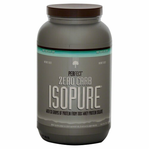 ISOPURE Perfect Zero Carb Mint Chocolate Chip Protein Powder Perspective: front