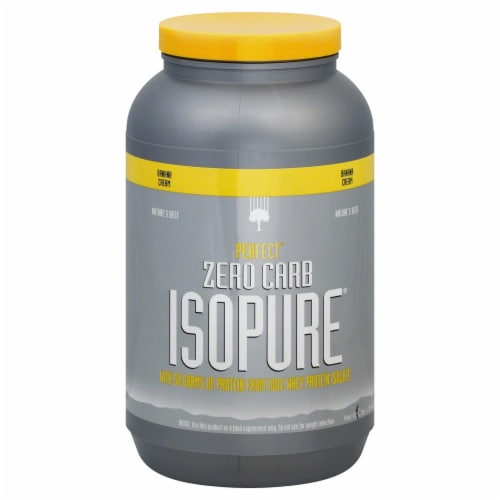 ISOPURE Zero Carb Banana Cream Protein Powder Perspective: front