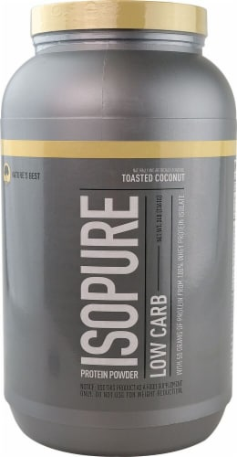 ISOPURE Toasted Coconut Protein Powder Perspective: front