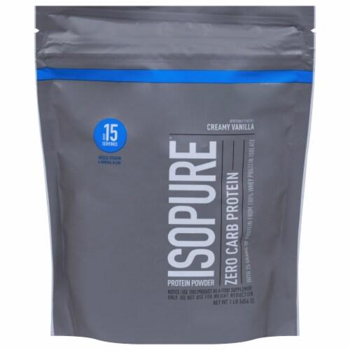 ISOPURE Protein Powder Zero Carb Creamy Vanilla Perspective: front