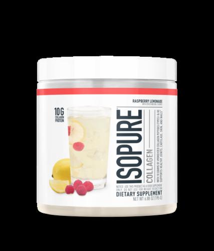 ISOPURE Raspberry Lemonade Collagen Perspective: front