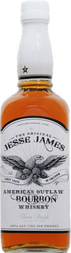 Jesse James Bourbon Whiskey Perspective: front