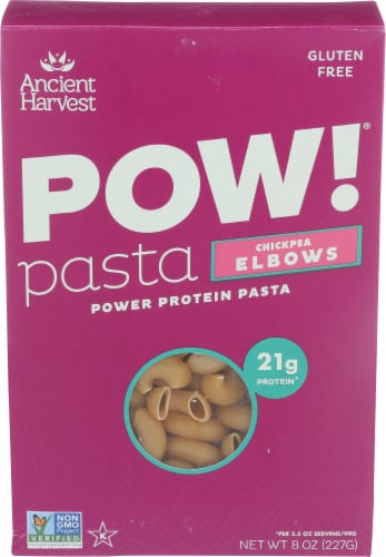 Ancient Harvest POW! Chickpea Elbow Pasta Perspective: front