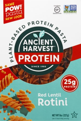 Ancient Harvest Gluten Free Red Lentil Rotini Plant-Based Protein Pasta Perspective: front