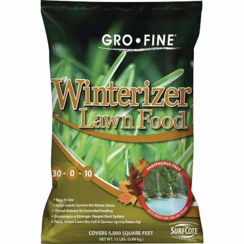 Gro-Fine 13 Lb. 5000 Sq. Ft. 30-0-10 Winterizer Fall Fertilizer GF57239 Perspective: front