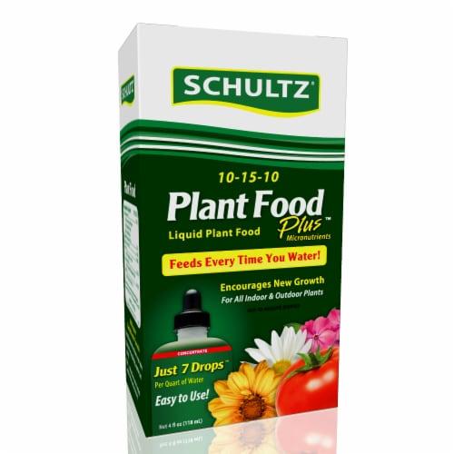 Schultz Plant Food Plus Liquid Plant Food Perspective: front