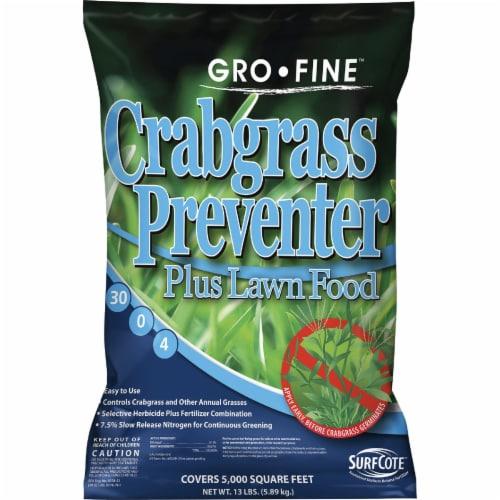 Gro-Fine 13 Lb. 5000 Sq. Ft. 30-0-4 Lawn Fertilizer with Crabgrass Preventer Perspective: front