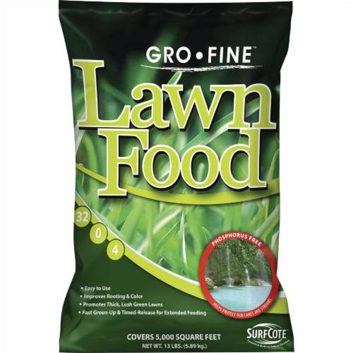 Gro-Fine 13 Lb. 5000 Sq. Ft. 32-0-4 Phosphorus Free Lawn Fertilizer GF58000 Perspective: front