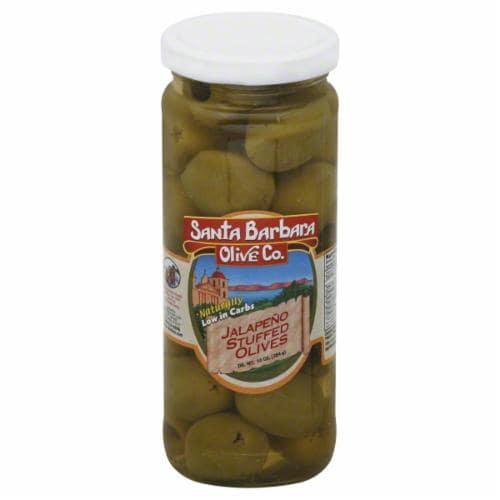 Santa Barbara Olive Co. Jalapeno Stuffed Olives Perspective: front