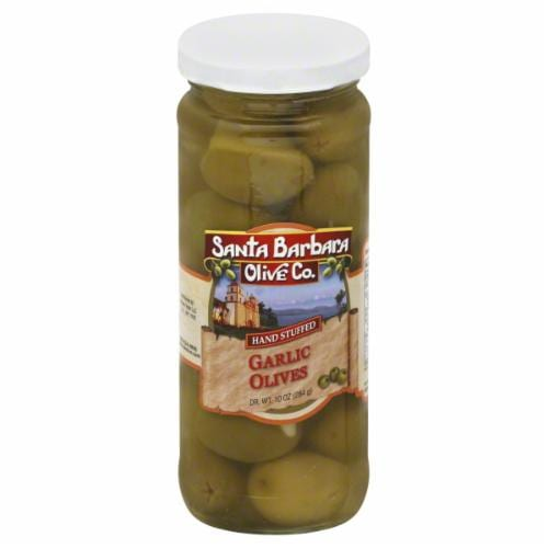 Santa Barbara Olive Co. Garlic Stuffed Olives Perspective: front