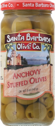 Santa Barnara Olive Co. Anchovy Stuffed Olives Perspective: front