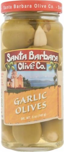 Santa Barbara Olive Co. Garlic Stuffed Olives Perspective: front