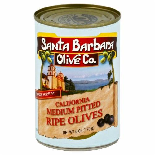 Santa Barbara Olive Co California Medium Pited Ripe Olives Perspective: front