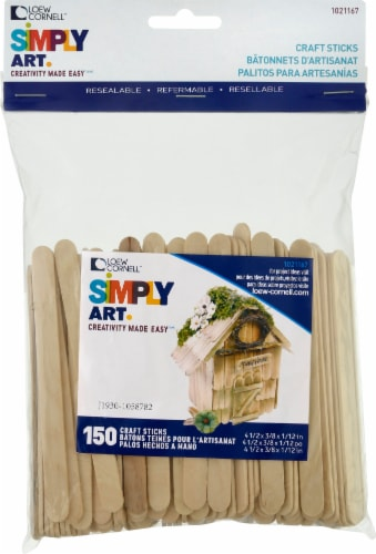 Loew-Cornell Woodsies Craft Sticks - Natural Perspective: front
