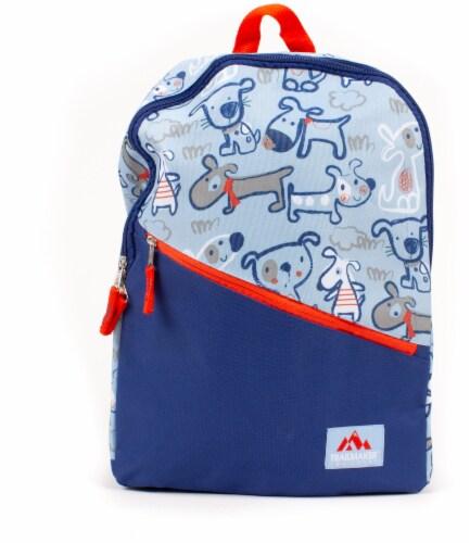 QFC - Trailmaker Angled Zipper Backpack - Blue, 1 lb