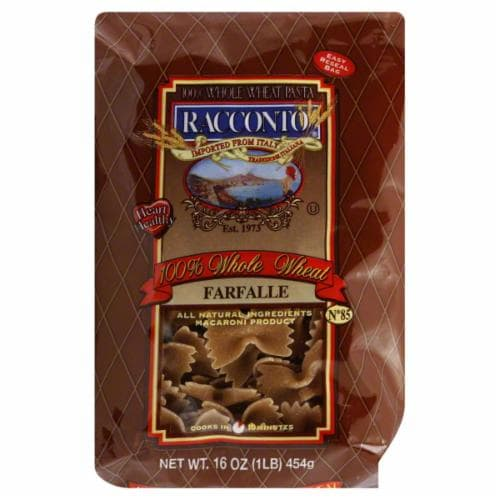 Racconto Whole Wheat Farfalle Perspective: front