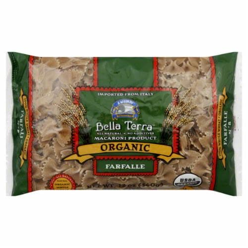 Bella Terra Organic Whole Wheat Farfalle Perspective: front