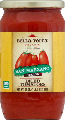 Bella Terra San Manzano  Diced Plum Tomatoes Perspective: front