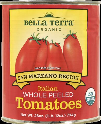 Bella Terra Organic Italian Whole Peeled Tomatoes Perspective: front