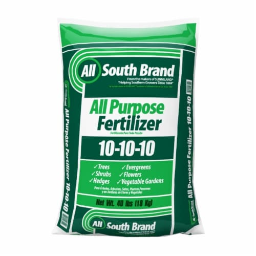 All South Brand All-Purpose 10-10-10 Lawn Fertilizer For All Grasses - Case Of: 1; Perspective: front