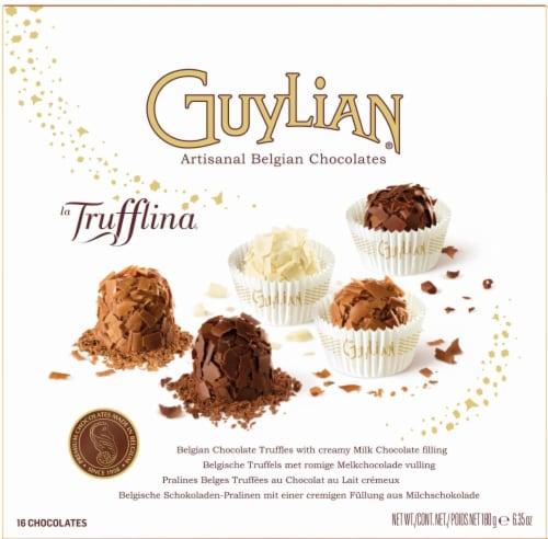 Guylian La Trufflina Milk Chocolate Filled Chocolate Truffles Perspective: front