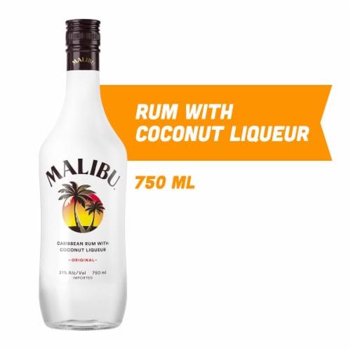 Malibu Caribbean Rum with Coconut Liqueur Perspective: front