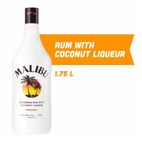 Malibu Original Carribean Rum with Coconut Liqueur Perspective: front