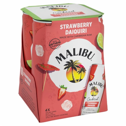 Malibu Strawberry Daiquiri Cocktail Perspective: front