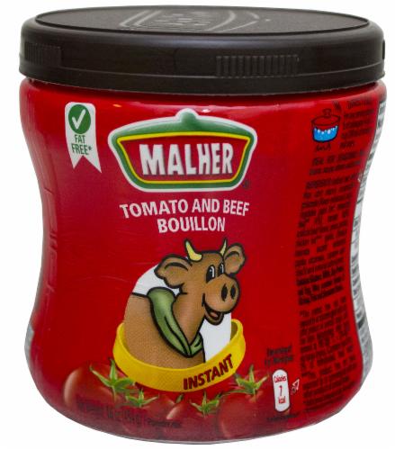 Malher Tomato Beef Bouillion Perspective: front