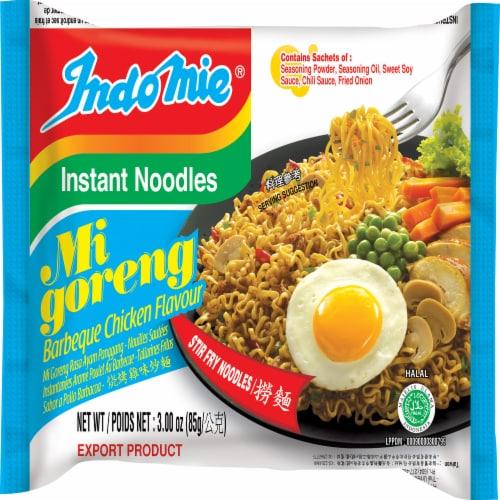 Indomie Mi Goreng Barbeque Chicken Flavor Instant Noodles Perspective: front